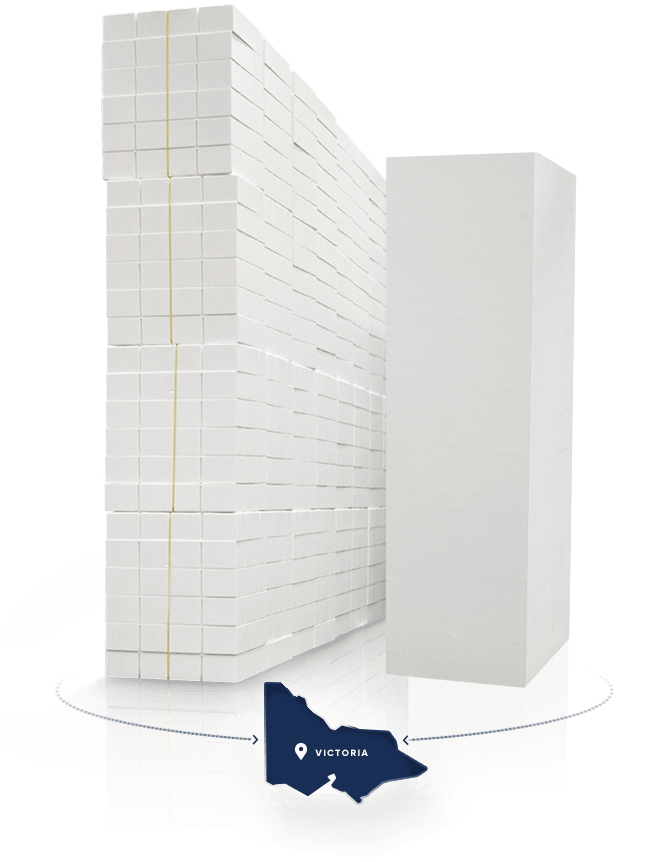 Range of polystyrene products, delivered across Victoria